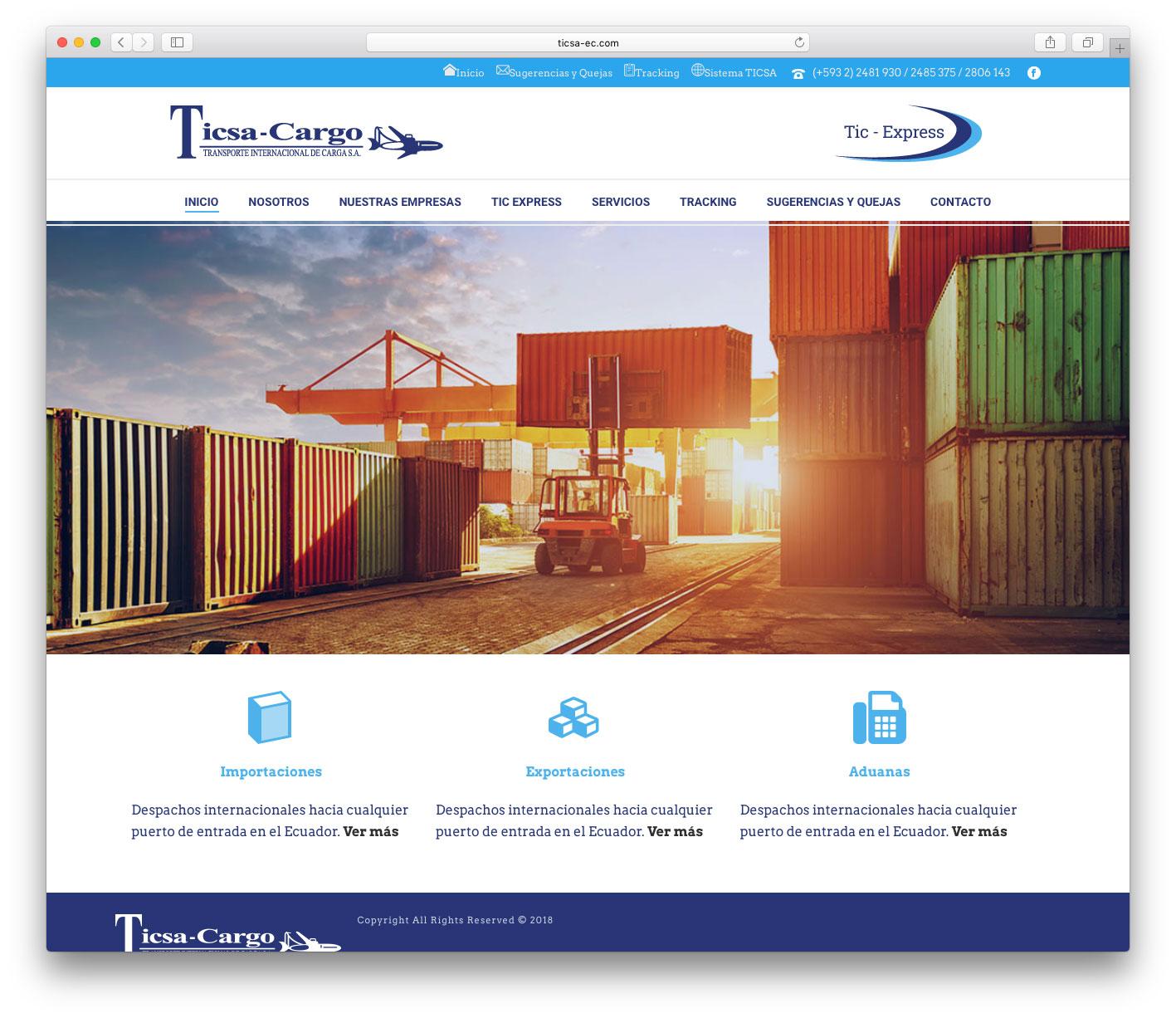 pagina-web-de-ticsa-cargo